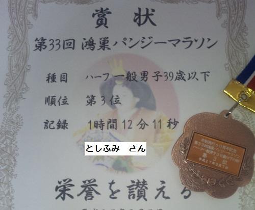 鴻巣パンジーマラソン入賞賞品