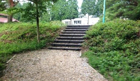 クロカンコース 階段