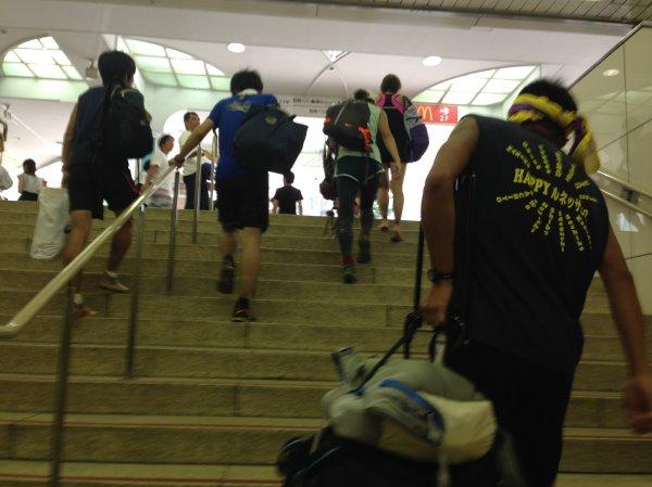 八王子駅階段
