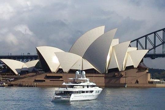 シドニーマラソンフィニッシュのオペラハウス