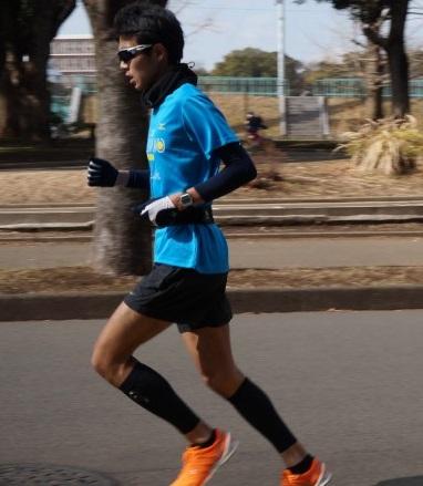距離走での一コマ。三好さんの走りは「余計な力が入っていない」ことが良く分かります。