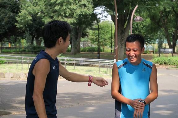 2016年8月。駒沢公園でSAITAKUに怒られる出口さん