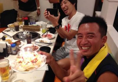 2015年8月。みんなが誕生日を祝ってくれたよ!