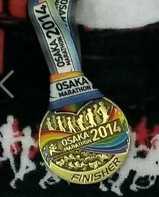 大阪マラソン2014完走メダル