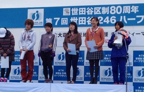 世田谷246ハーフマラソン表彰式