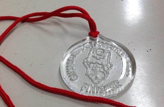 群馬県民マラソン完走メダルはガラス