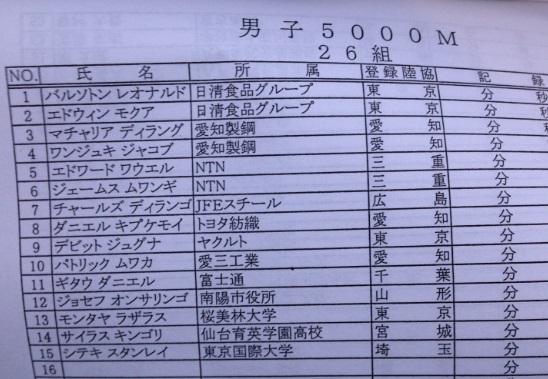 023日体大記録会外国人レース