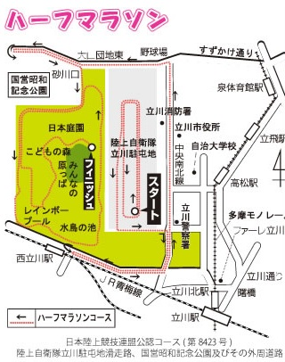 立川シティハーフ コース