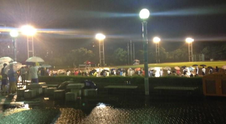 2014年大会はあいにくの雨