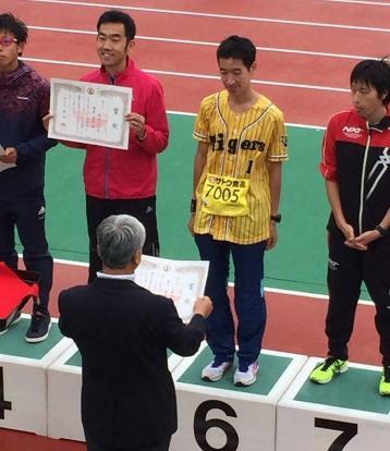 新潟シティマラソン6位夏目晋太郎
