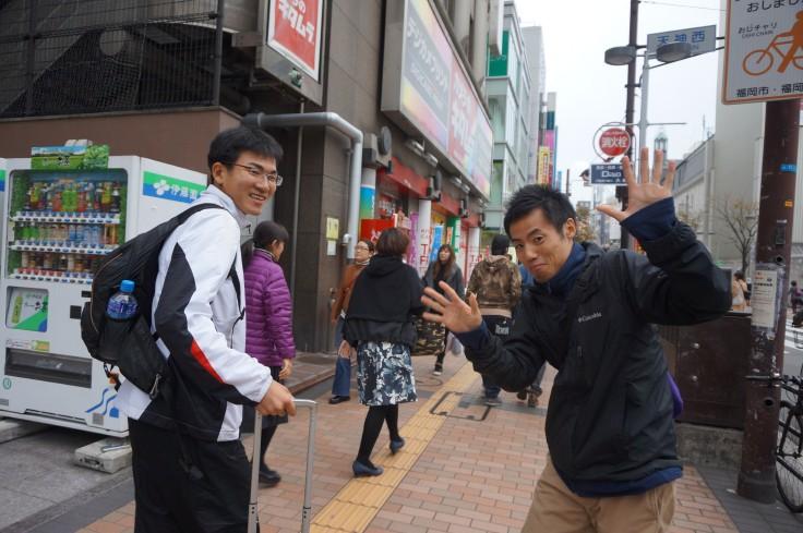 ともに初の福岡国際となる三好さん(左)と宮脇さん(右)