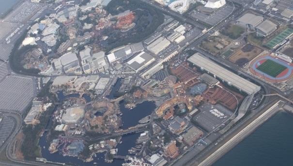 東京ディズニーリゾートを上空から