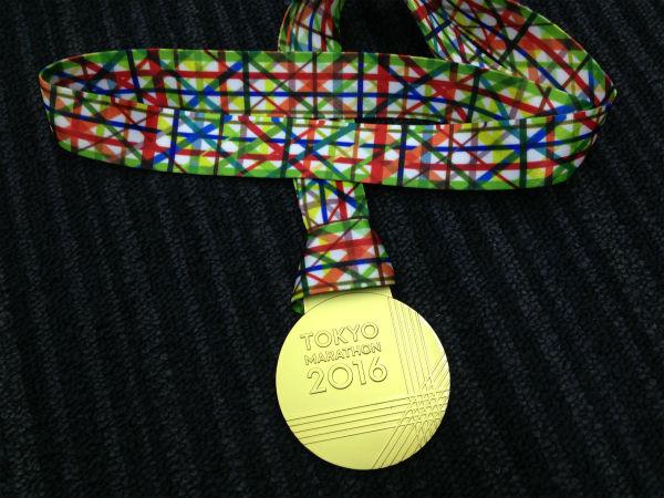 東京マラソン 完走メダル